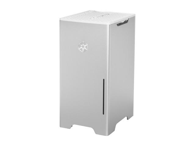 SILVERSTONE Silver Aluminum / Steel Fortress Series SST-FT03S-MINI Mini ITX Media Center / HTPC Case