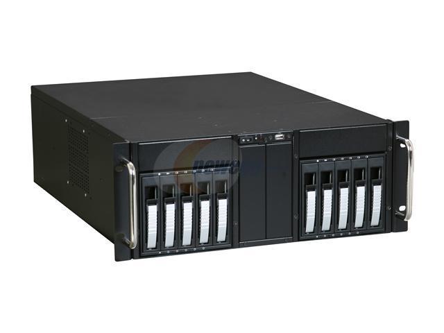 iStarUSA D-410B10SA-SILVER Silver Zinc-Coated Steel 4U Rackmount Server Case