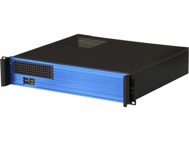 iStarUSA D-213-MATX-BLUE 2U Rackmount microATX Server Chassis - OEM