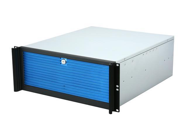 iStarUSA D-416-B10SA-BL-BLUE Metal/ Aluminum 4U Rackmount Compact Stylish Server Chassis PS2 PSU