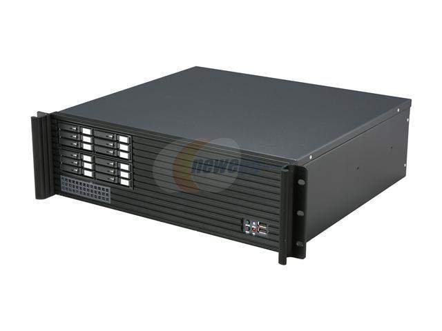 iStarUSA D313SEMATX-2B126SA Black Steel 3U Rackmount Compact Server Case - OEM