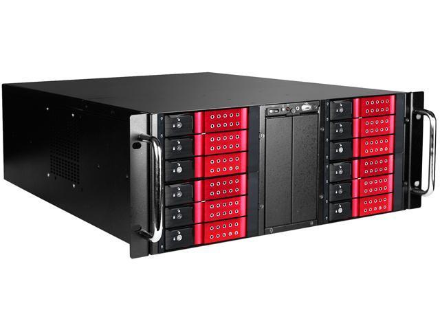 iStarUSA D410-DE12RD-55R8P Zinc-Coated Steel 4U Rackmount Storage Server Chassis