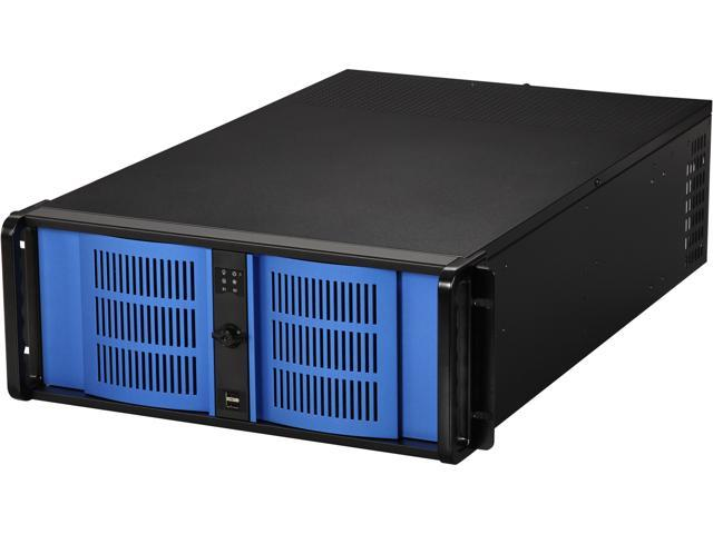 iStarUSA D400L7-DE8BK Steel 4U Rackmount High Performance Quiet Server Chassis