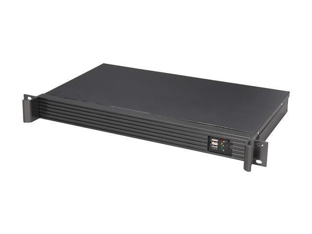 iStarUSA D-118V2-ITX-1U180FX1 Black Aluminum / Steel 1U Rackmount Compact Server Chassis