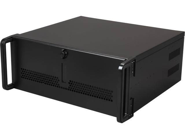 "iStarUSA E-40 Black Steel 4U Rackmount Rugged 15"" Compact Chassis"