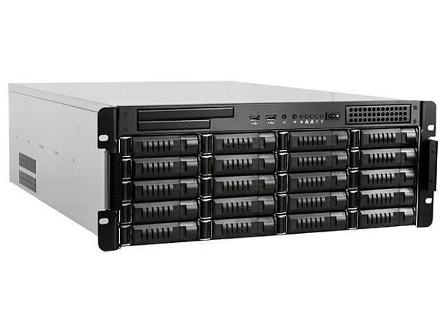 iStarUSA E4M20-120P8G Steel 4U Rackmount 4U 20-Bay Storage Server Rackmount Chassis