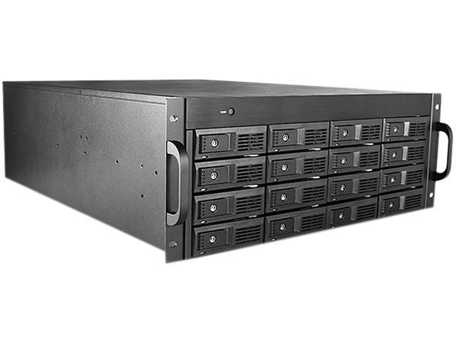 iStarUSA M-4160-JB Black Aluminum / Steel 4U Rackmount 3.5