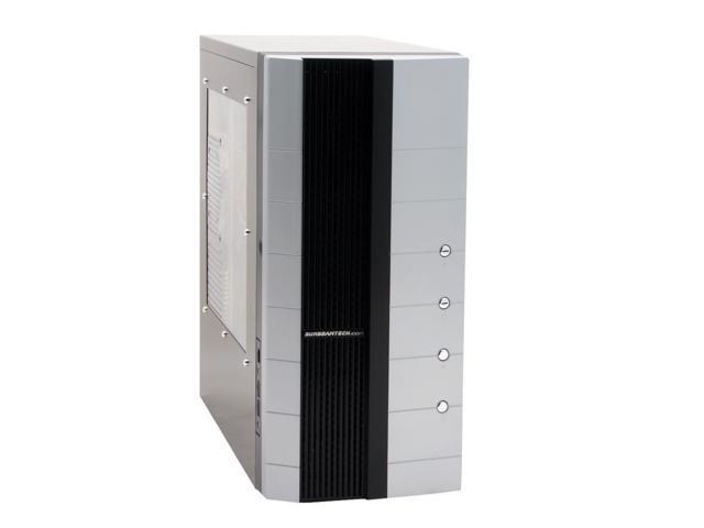 Sunbeam Silent Storm IC-SS-SVBK Black/Silver Steel ATX Mid Tower Computer Case