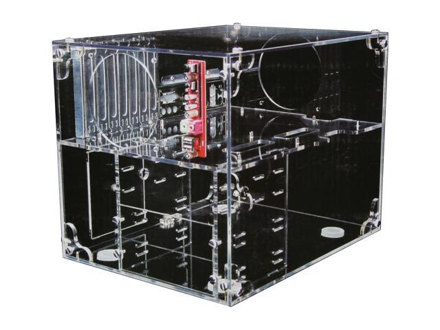 Sunbeam UFO ACUF-T Transparent Clear Acrylic ATX Cube Computer Case