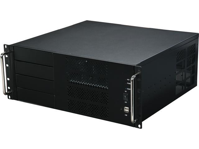 Athena Power RM-4UC438 Black 1.0mm SECC 4U Rackmount Server Case