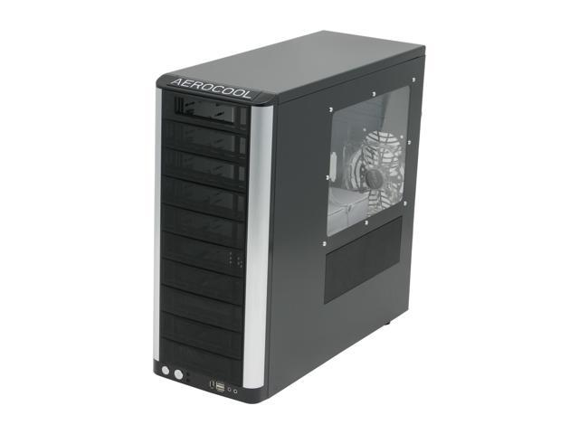 AeroCool Masstige BLK Black Steel ATX Mid Tower Computer Case