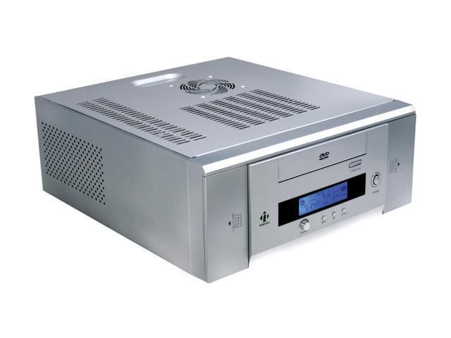 nMEDIAPC HTPC 100 SA Silver Steel MicroATX Media Center Computer Case 300W Power Supply - Version 2.0