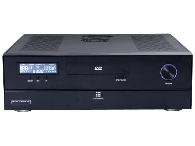 nMEDIAPC Black Aluminum / Steel HTPC 200BA Micro ATX Media Center / HTPC Case