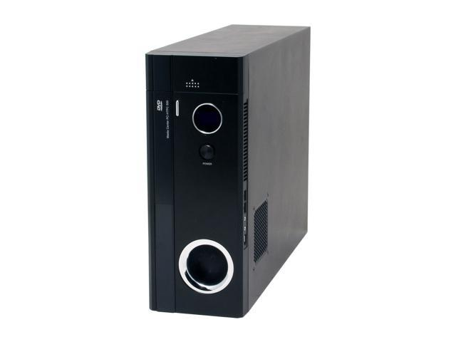 nMEDIAPC HTPC 300BA Black Aluminum/Plastic/Steel ATX Mini Tower Computer Case