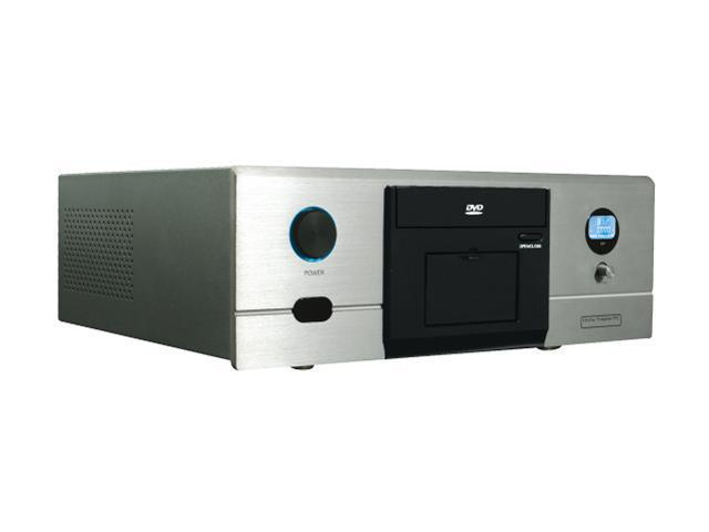 nMEDIAPC Silver Aluminum / Steel HTPC 180SA Micro ATX Media Center / HTPC Case