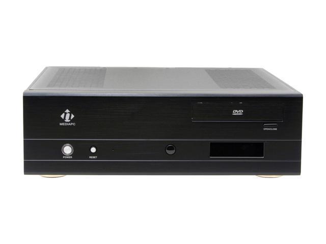 nMEDIAPC Black Aluminum Panel/ 0.8 mm SECC body HTPC 500BA ATX Media Center / HTPC Case