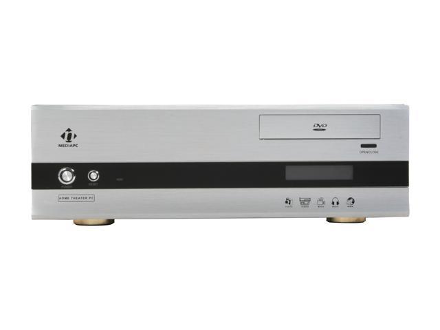 nMEDIAPC Silver Aluminum panel & Steel HTPC 1000S Micro ATX Media Center / HTPC Case