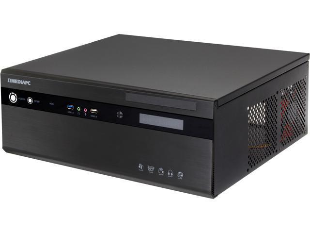 nMEDIAPC Black Aluminum Panel & Steel (1.0mm SECC) HTPC 2800B ATX Media Center / HTPC Case