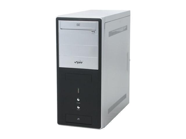 Spire BlackFin VI SP-2705B Black/ Silver SECC/ ABS ATX Mid Tower Computer Case