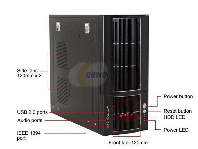 SIGMA ATLANTIS ATLANTIS-B Black Aluminum ATX Mid Tower Computer Case