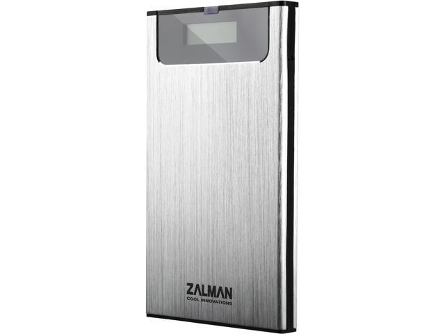 """Zalman ZM-VE350S Aluminum Alloy, Acryl, Poly Carbonate 2.5"""" Silver SATA I/II/III USB 3.0 2.5"""" USB3.0 External HDD Case"""