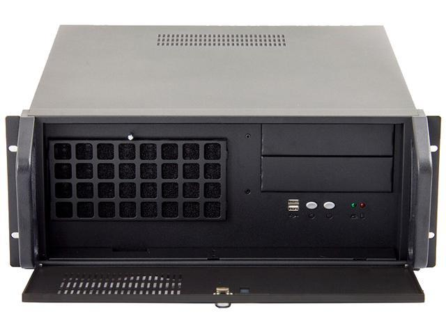 Habey RPC-810 Black Heavy Duty 1.2mm Cold-rolled Steel, Texture Power Coated 4U Rackmount Server Chassis 2 External 5.25