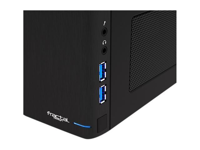 Fractal Design Node 304 FD-CA-NODE-304-BL Black Aluminum / Steel Mini-ITX Tower Computer Case
