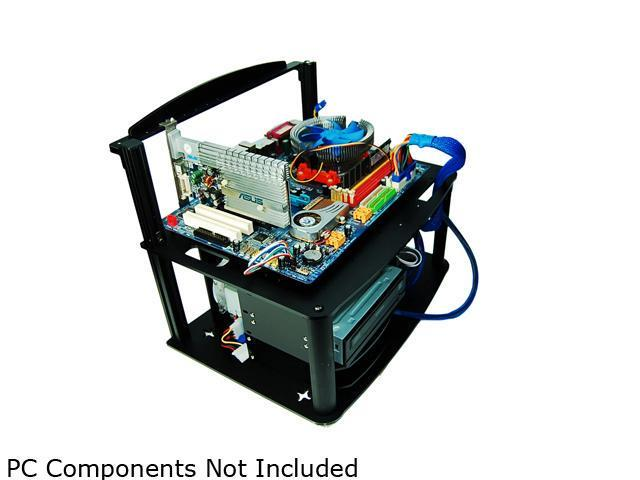 DIYPC Alpha-GT3 Black Acrylic and Aluminum ATX Bench Case Bench Computer Case for ATX/Micro ATX motherboard – PC components ...