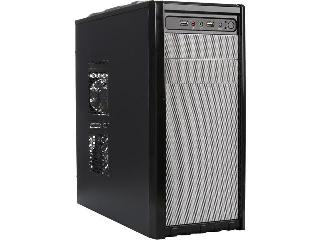 DIYPC FM08-W  Black USB 3.0 ATX and Micro-ATX Mid Tower Computer Case with 1 x 120mm and 1x 80mm White Fan