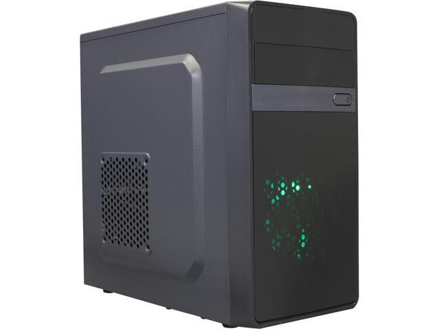 DIYPC MA01-G Black/Green USB 3.0 Micro-ATX Mini Tower Gaming Computer Case with Dual Fans