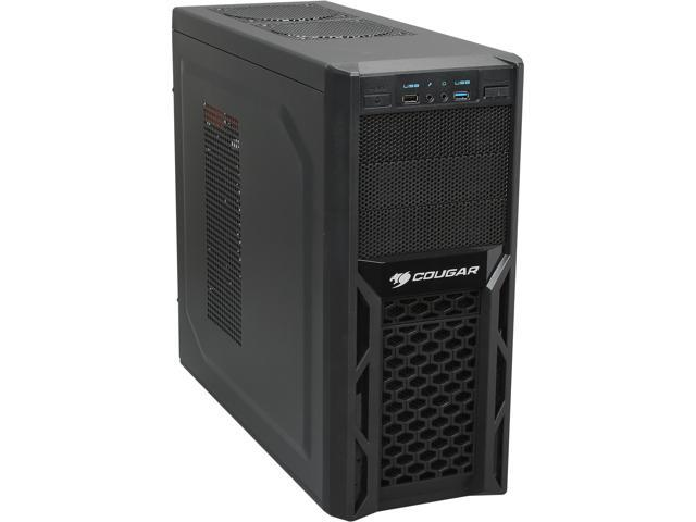 COUGAR SolutionC400SL Black Steel / Plastic ATX Mid Tower Computer Case Haswell ready 400W Power Supply