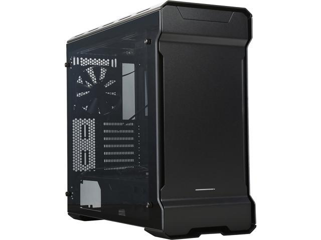 Phanteks ENTHOO EVOLV PH-ES515ETG_BK Satin Black 3mm Aluminum Exterior/Steel Chassis/Tempered Glass Panels (left and right) Mid Tower ATX Case