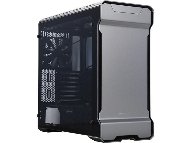 Phanteks ENTHOO EVOLV PH-ES515ETG_AG Anthracite Grey 3 mm Aluminum Exterior / Steel Chassis / Tempered Glass Panels (Left and Right) Mid Tower ATX Case
