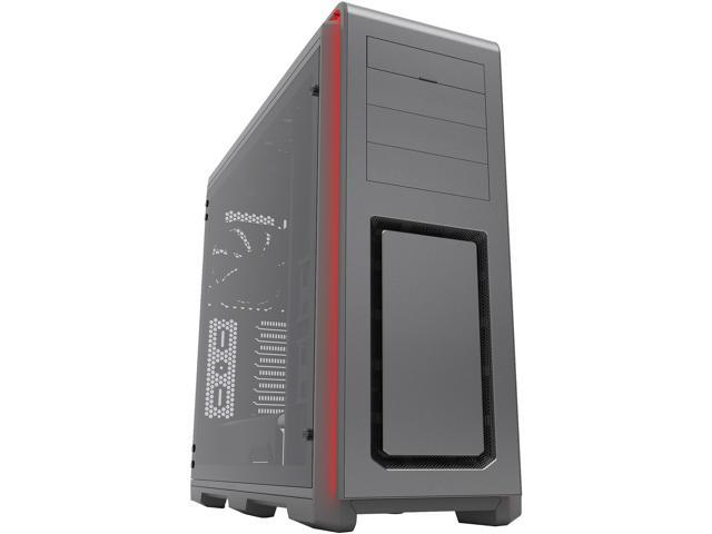 Phanteks PH-ES614LTG_AG Gray Aluminum faceplates, Steel Chassis, tempered glass panel ATX Full Tower Computer Case