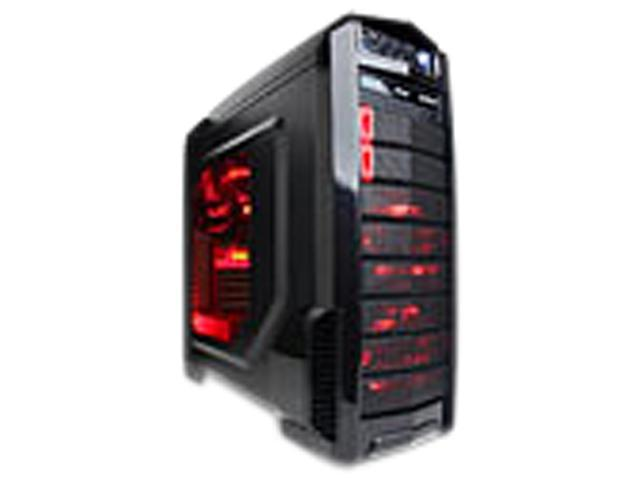CYBERPOWERPC X-Titan Black/Red Full-Tower Gaming Case