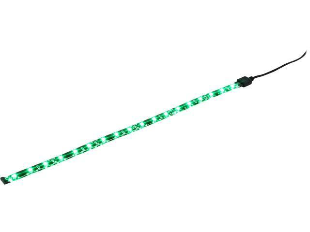 LOGISYS Computer LDM12GN 12in Green LED Molex Self-adhesive Flexible & Extendable Strip