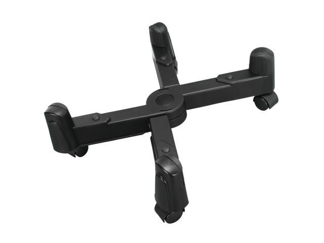 Syba SY-ACC65029 CPU Stand with 5 Castors Wheel, Plastic, Black Color, Adjustable Width