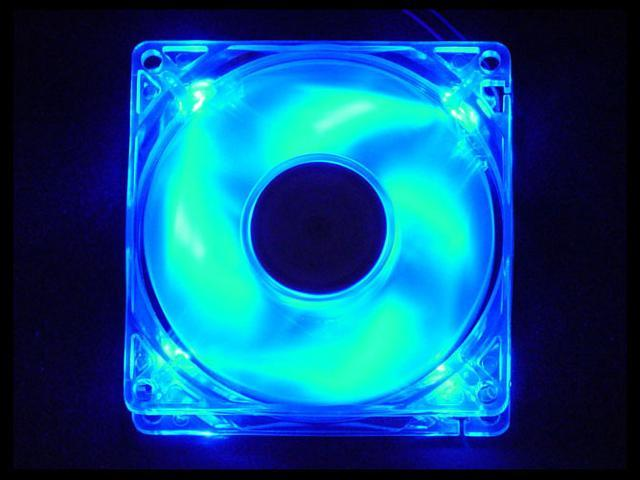 APEVIA CF4SL-UBL-LED 80mm Blue LED Case Fan