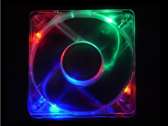 APEVIA CF12SL-4C 120mm Multi-Color LED Crystal Multicolor LED Case Fan