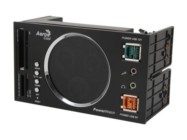 AeroCool PowerWatch-BK Multifunction Panel with PowerUSB