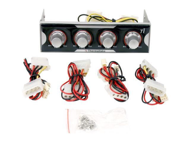 "Thermaltake XCONTROLLER 5.25"" Drive Bay Kits - Fan Controller w/ LED Light"