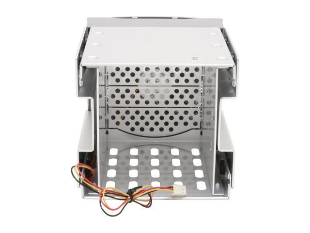 """Silverstone CFP51-S Aluminum 5.25"""" to 3.5"""" bay converter with 120mm fan"""