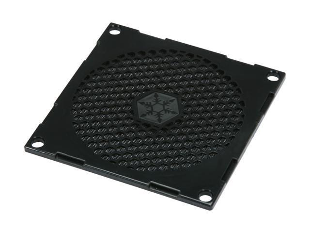 Silverstone FF81B 80mm Fan Filter with Grill (Black)