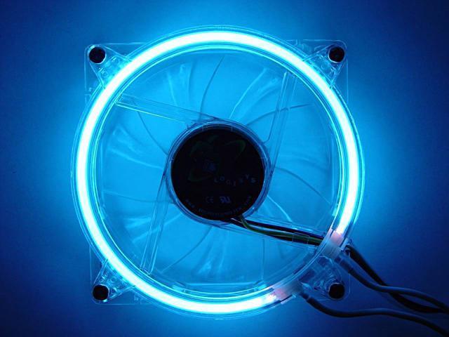 LOGISYS Computer CCF80BL 80mm Blue LED Case Cooling Fan
