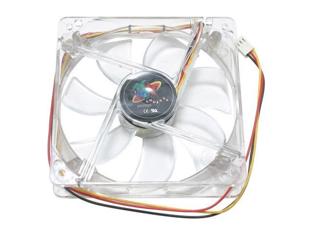 LOGISYS Computer CF120BL 120mm BLUE 4 LED LED Case Fan