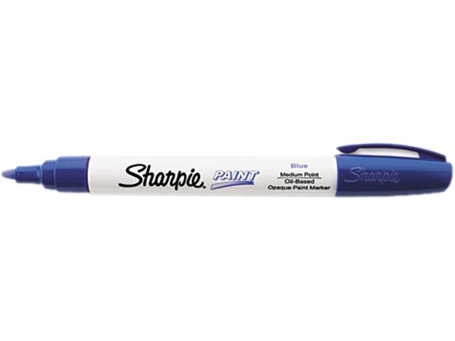 Sharpie Permanent Paint Marker, Medium Point, Blue, Each - SAN34903