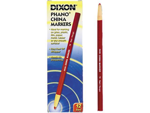 Dixon China Marker, Red, Dozen, DZ - DIX00079