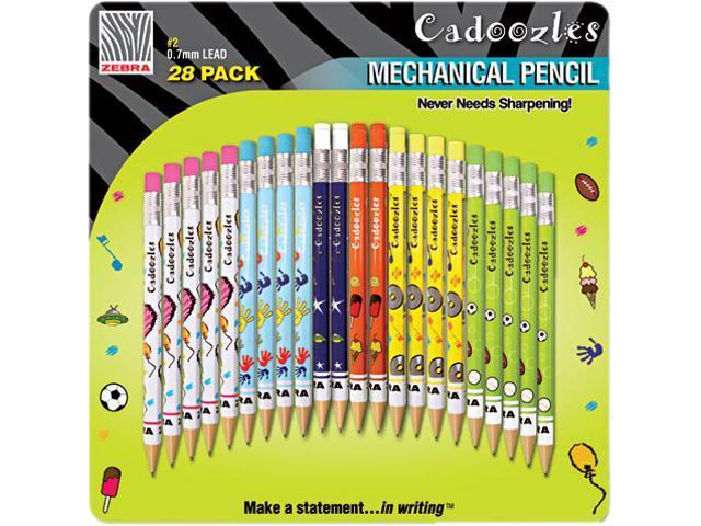 Zebra Cadoozles Mechanical Pencil, Assorted Barrels, 0.7 mm, 28 per Pack, PK - ZEB51291