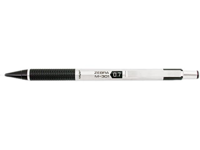 Zebra M-301 Mechanical Pencil, 0.7 mm, Stainless Steel Barrel, EA - ZEB54310