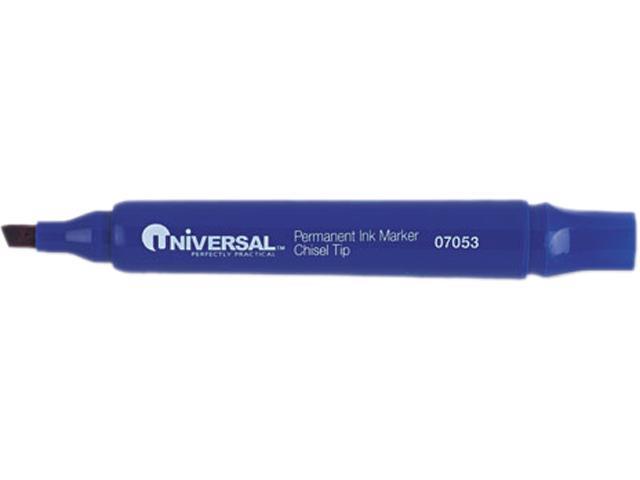 Universal Permanent Markers, Chisel Tip, Blue, Dozen, DZ - UNV07053